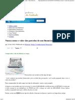 Parcelas (..) financiamento-Elisson de Andrade