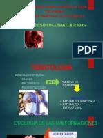 MECANISMOS TERATOGENICOS