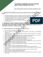 Lista Actelor Privind Securitatea Și Sănătatea În Muncă În Domeniul Vitivinicol (Pentru Vinării, Producători de Vinuri)