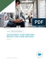 Item Writing Basics for Item Writers - Version 2.3 - 9-26-2019