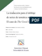 La traducción para el doblaje de series de temática médica