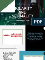 molarity normality