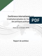 Conference Politiques Publiques
