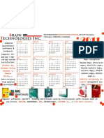 Free Downloadable Brain Technologies Inc. Calendar