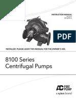 AC2515E 8100 Series Centrifugal Pumps IOM