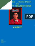 Presentation on President Corazon Aquino