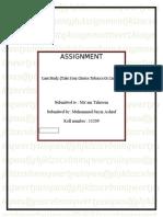 public relation assignment