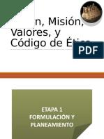 8 Formulación de Mision y Visión