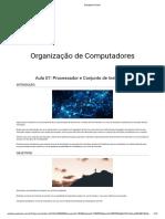 Aula 7 - Processador e Conjunto de Instruções