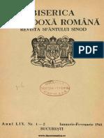 Manolache, Theodor - Erezie muzicală (BOR 59, nr. 01-02, ianuarie-februarie 1941)