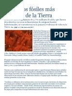 texto científico-fósil