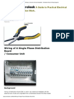 DIY Wiring a Consumer Unit and Installation - Distribution Board- Wiring Diagrams