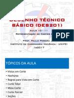 DES201-Aula 10-11 - Representação de cortes e secções