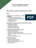 CURSO BÁSICO DE SISTEMA DE INFORMACIÓN GEOGRÁFICA