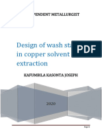 Design of Wash Stage in Copper Solvent Extraction