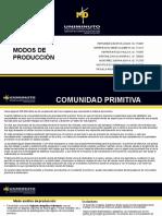 MODOS DE PRODUCCION.