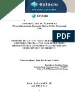 RESENHA LIMITES EXEGÉTICOS DO ATIVISMO JUDICIAL POR UMA ESTRATÉGIA HERMENÊUTICA DE PRESERVAÇÃO DO ESTADO