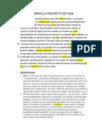 DESARROLLO PROYECTO DE VIDA