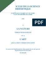 Z Anonyme La Clavicule de La Science Hermetique