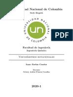 Viscosimetros rotacionales- Tarea 1