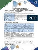 Guía de actividades y rúbrica de evaluación - Tarea 3 - Actividad Colaborativa 2