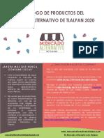 Catálogo de productos Mercado Alternativo de Tlalpan 14_04_2020