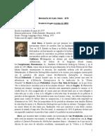 Biografía de Karl Marx elaborada por friedrich