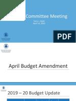Budget Presentation - April 14, 2020