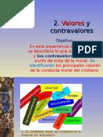 2. VALORES-CONTRAVALORES