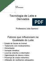 Tecnologia de Leite e Derivados 2ª aula