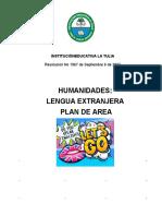 PLAN DE AREA DE INGLES INTRODUCCION