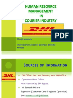 HRM in DHL (Courier Industry)