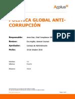 Global Anticorruption Policy - 2019 ES