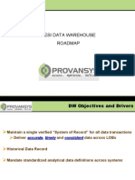 Provansys Mortgage DW Roadmap