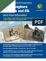 2011 Arizona Pronghorn and Elk Booklet