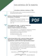 Quimica Resueltos(Soluciones) Estructura Atomica de la Materia 2º Bachillerato, Selectividad