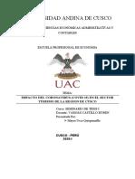 IMPACTO DEL CORONAVIRUS EN EL SECTOR TURISMO DE LA REGION DEL CUSCO