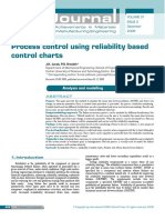 Process Control using relaibility based control charts