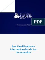 Los identificadores internacionales de los documentos