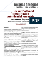 Conference de Presse - Attentat Habyarimana - 17122010