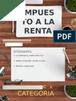 RENTA DE PRIMERA CATEGORIA