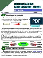CONCEITOS BÁSICOS - MODULO 1