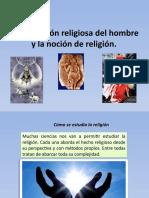 Tema 2 La dimensión religiosa del hombre y la noción de religión