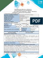 Guía de actividades y Rúbrica de calificación - Fase 3 - Articular y comprobar la atención pre-hospitalaria