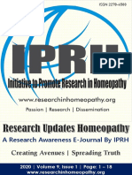 Research Updates Homeopathy Vol-9 Issue-1 [2020]