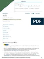 Reiseplan_ Zurich