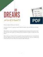 Reclaim Your Dreams Worksheets
