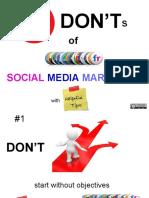 Social Media Marketing DON'Ts