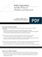Mobile Aspirations and Nexus of Youth, Mobility and Education