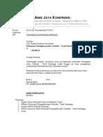 Surat Permohonan pemeriksaan Pekerjaan Masa Pemeliharaan
